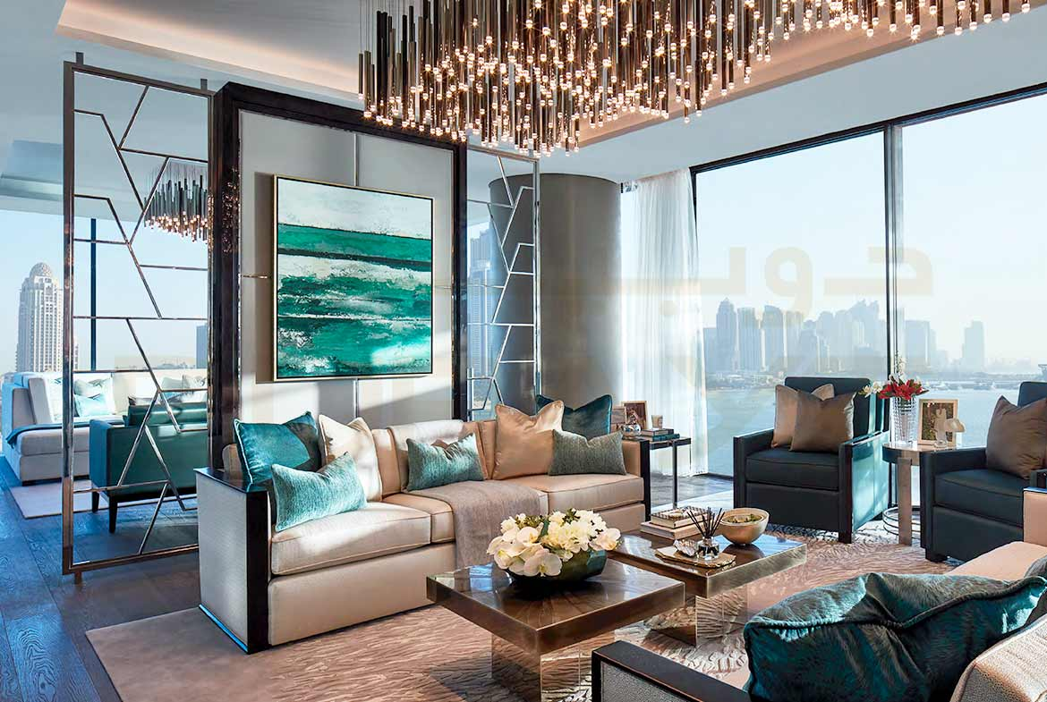One Palm by Omniyat at Palm Jumeirah - Living Room