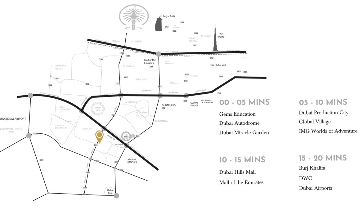 Apartments for sale in Samana Golf Avenue - Map