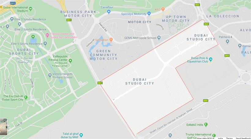 Apartments for sale in Samana Golf Avenue - Google Map