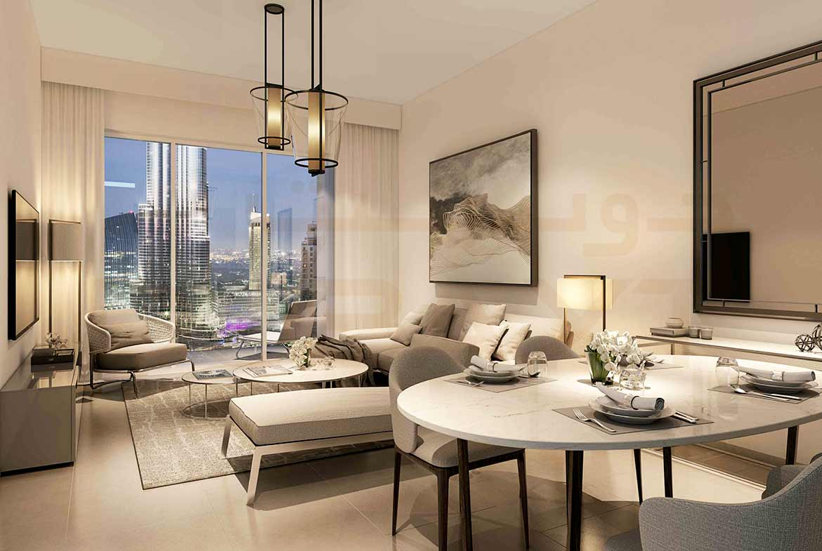 Act One/Act Two Luxury Apartments by Emaar - Living Room