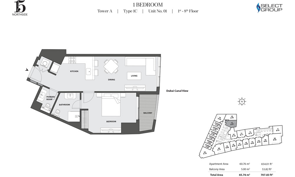 15 Northside by Select Group 4 Bed Room Plan