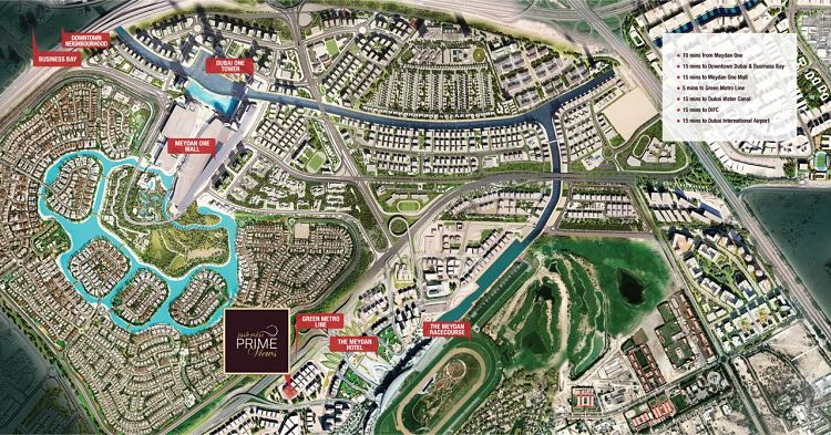 Apartments for sale in Prime Views - Location Map