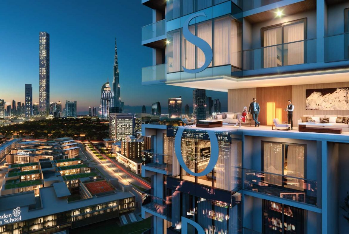 One Park Avenue in Sobha Hartland - Top Building view